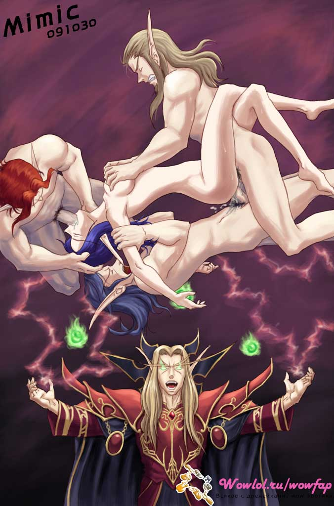 собрание - трое парней любят эльфийку во все щели.