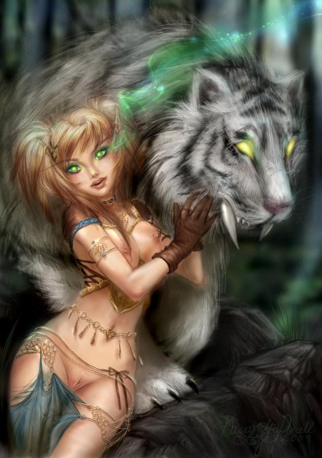 блад эльфийка и её киска