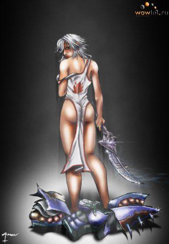 Раздетая девушка из алого ордена