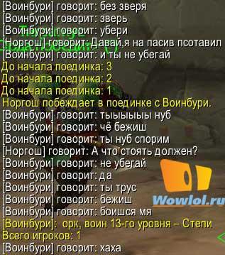 Воин PvP и паадины...
