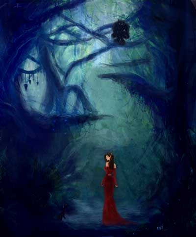 эльфийка в лесу
