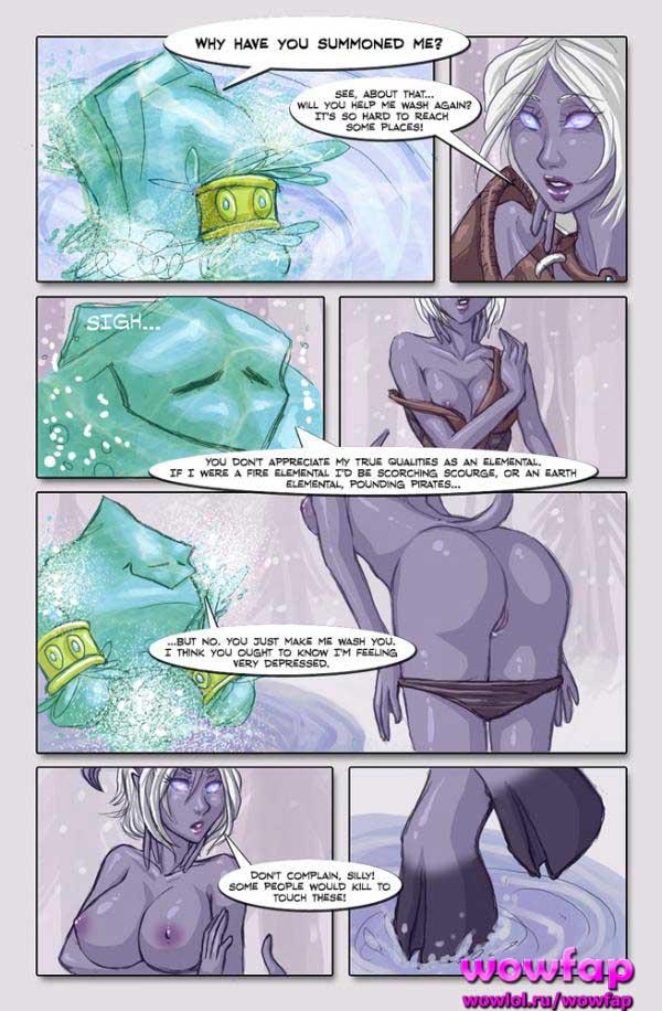 Продолжение комикса про голую дренейку