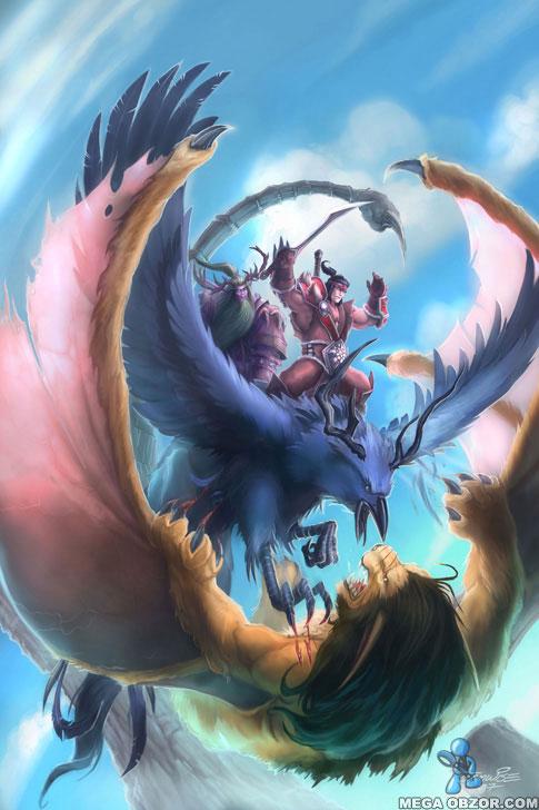 Битва на небесах - Арт на тему WoW