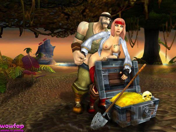 любовь пиратов среди сокровищ