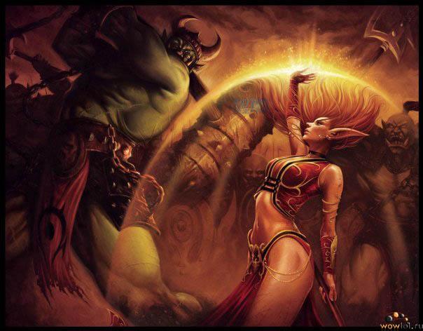 Орк и Эльфийка