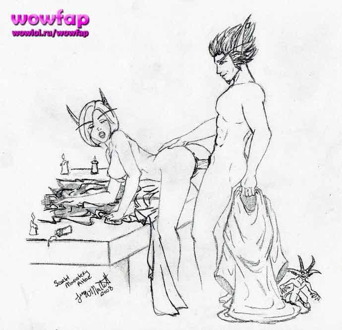 эльфийка и стол