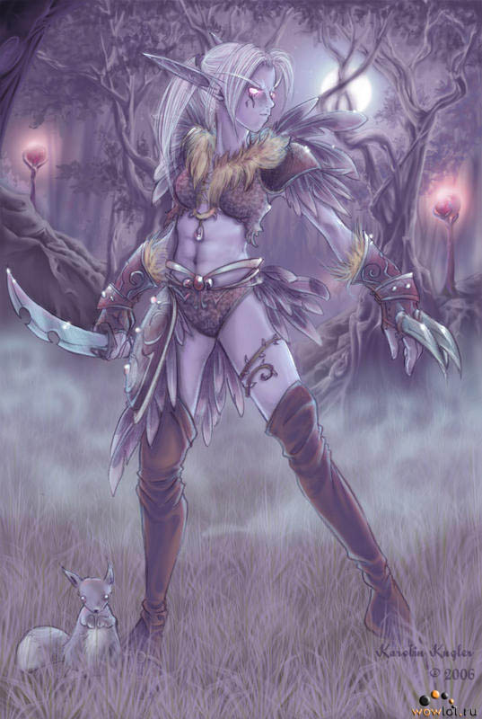 Найт-эльфийка