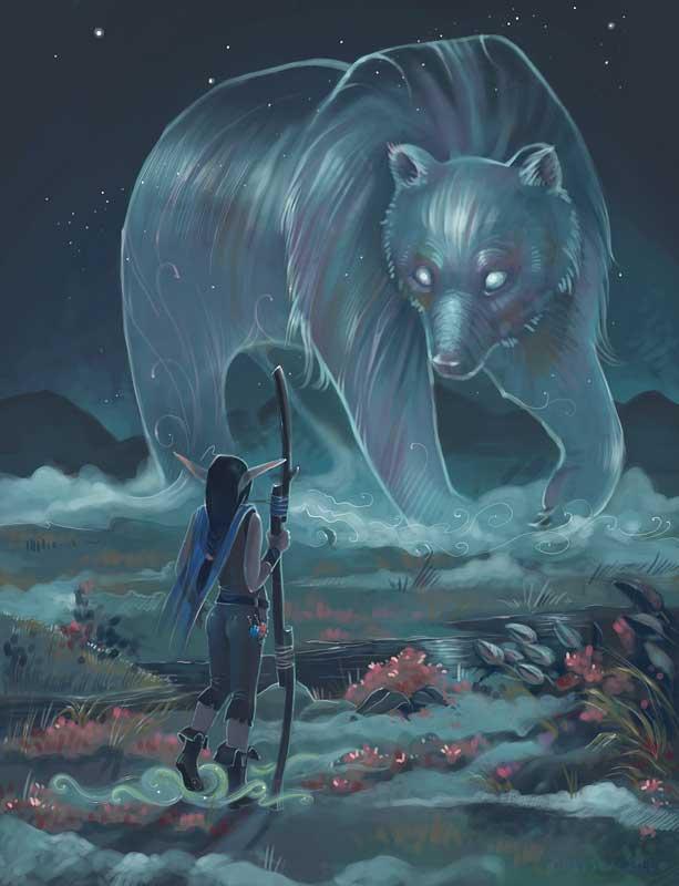 Друидка и медведь.