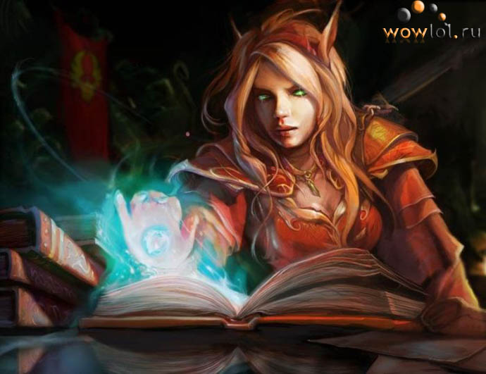 Блад-эльфийка магичка