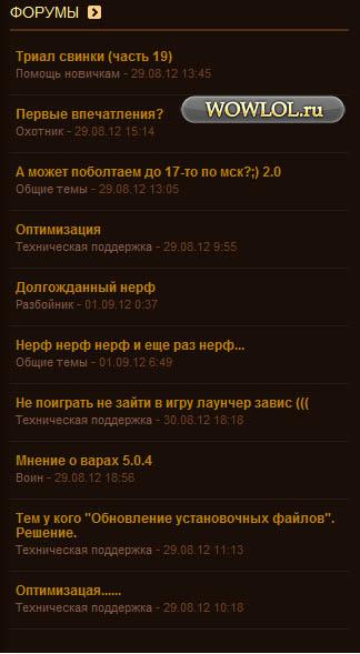 Форум, ЧШ