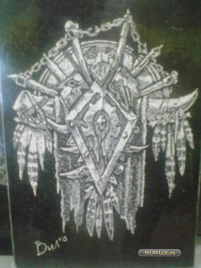 ордынский флаг.гравировка на граните.