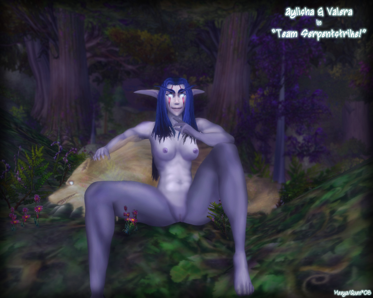 Naked warcraft pandaren girl seks boobs exploited scene