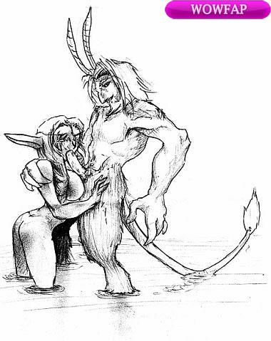Сатир и найт-эльфийка