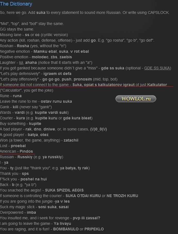 Словарь геймера