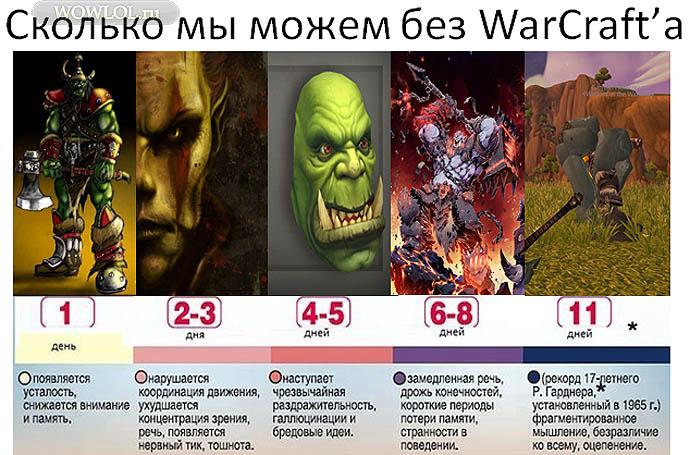 Сколько мы можем без WarCraft'a
