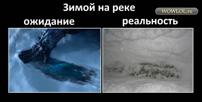 Зимой на реке