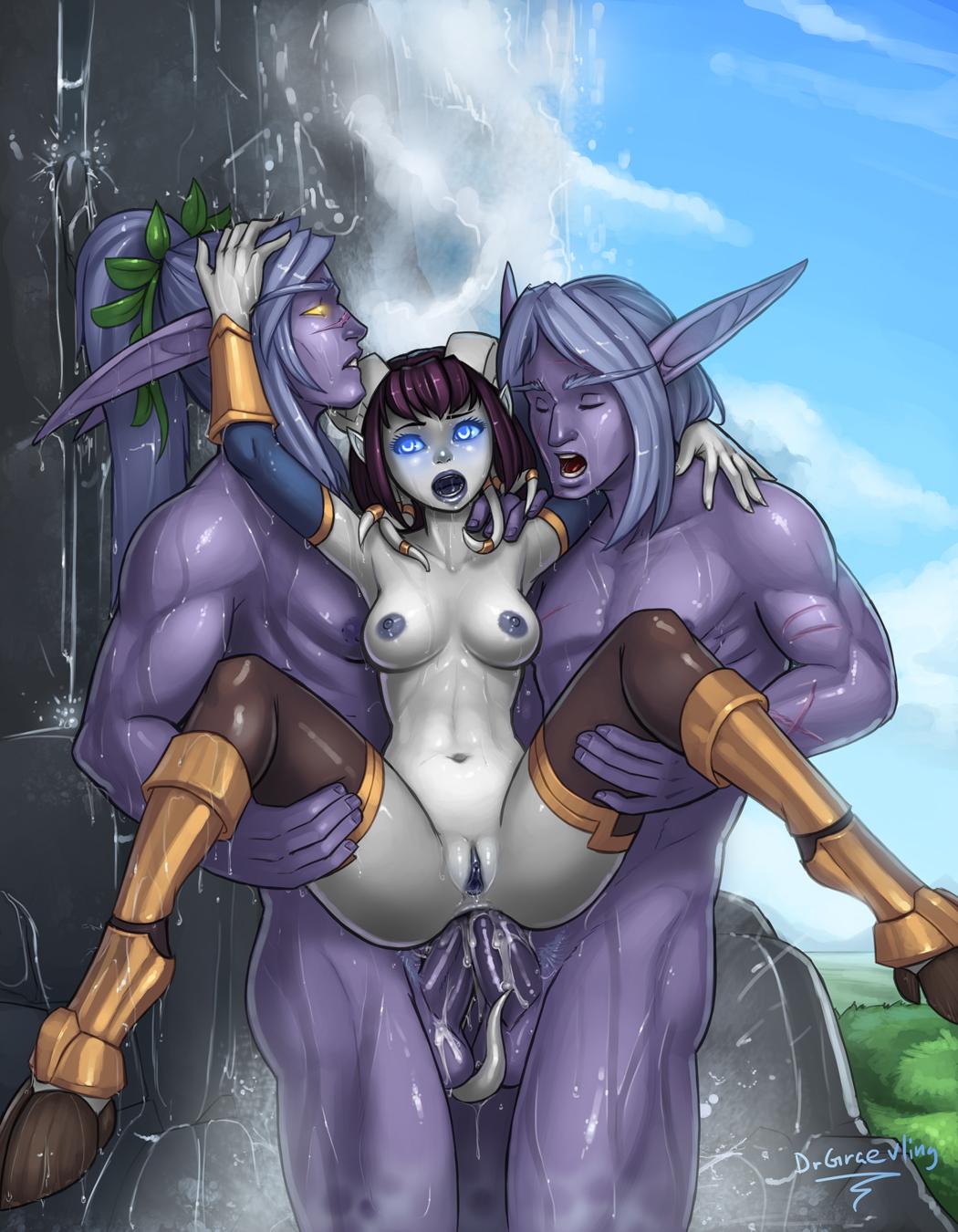 Draenei and elf sex sex video