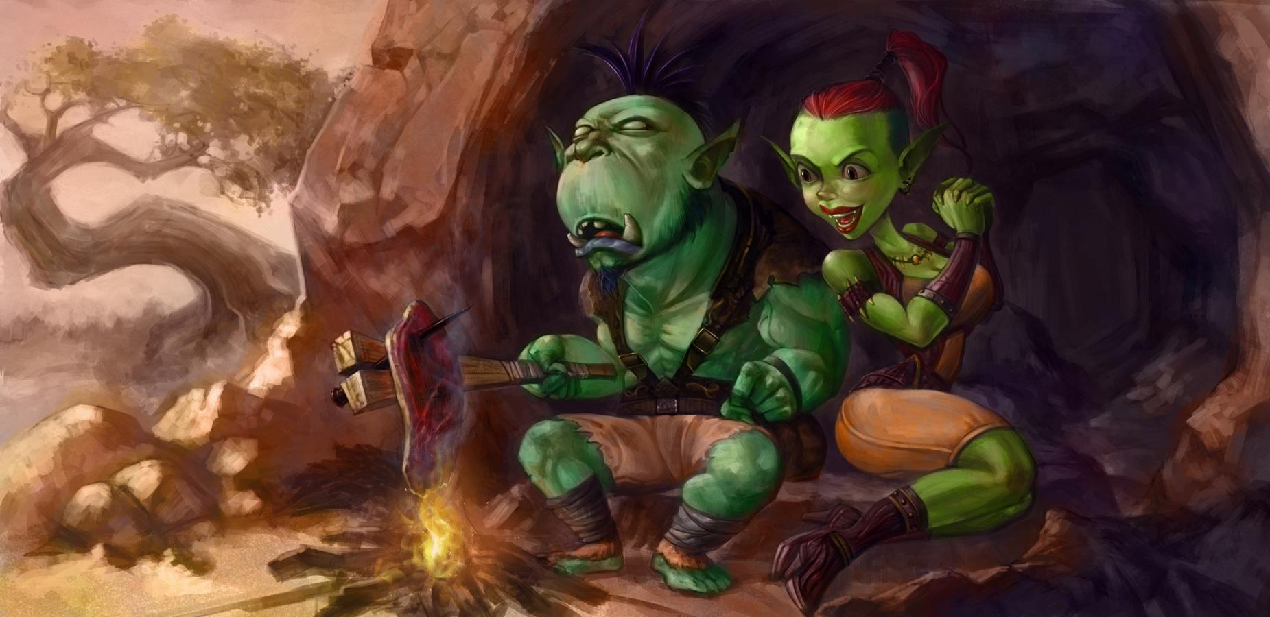 Female goblin cartoon picture