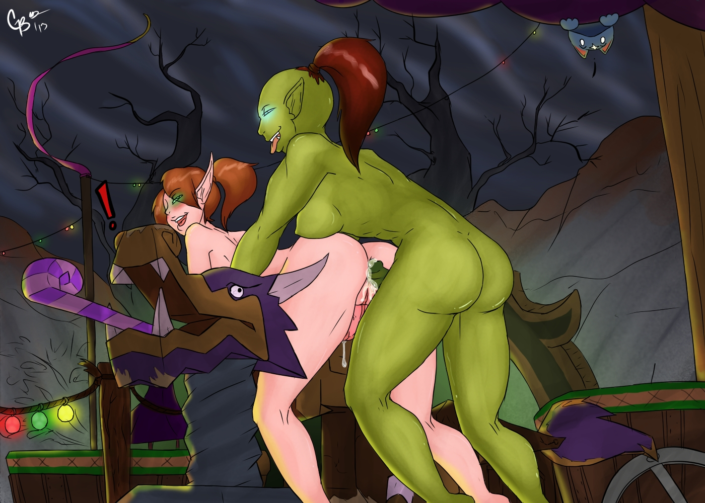Orc and an elf sex porncraft image