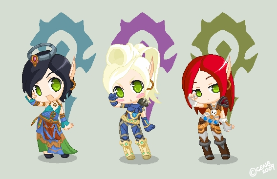 Blood elf dolls