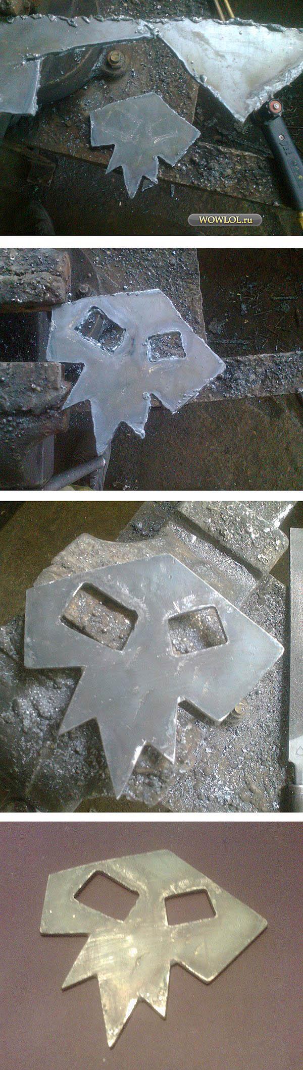 Знак шамана из листового метала толщиной 5мм