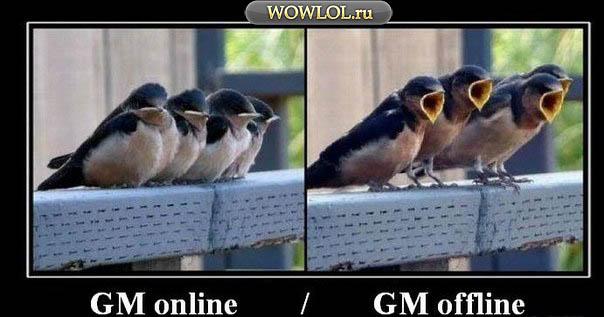 GM online , GM offline