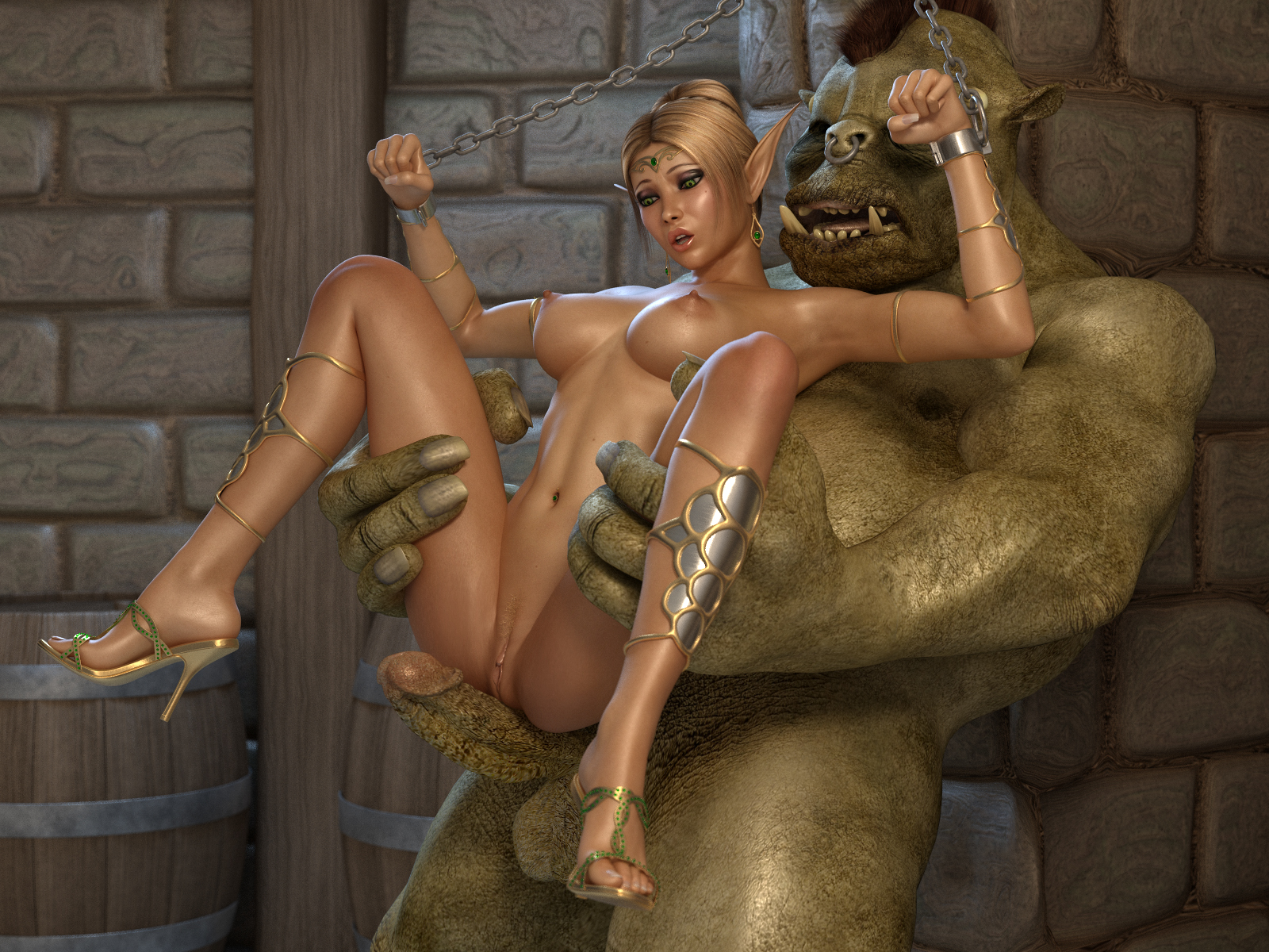 3d elf princess demon orc porn movies erotic vids