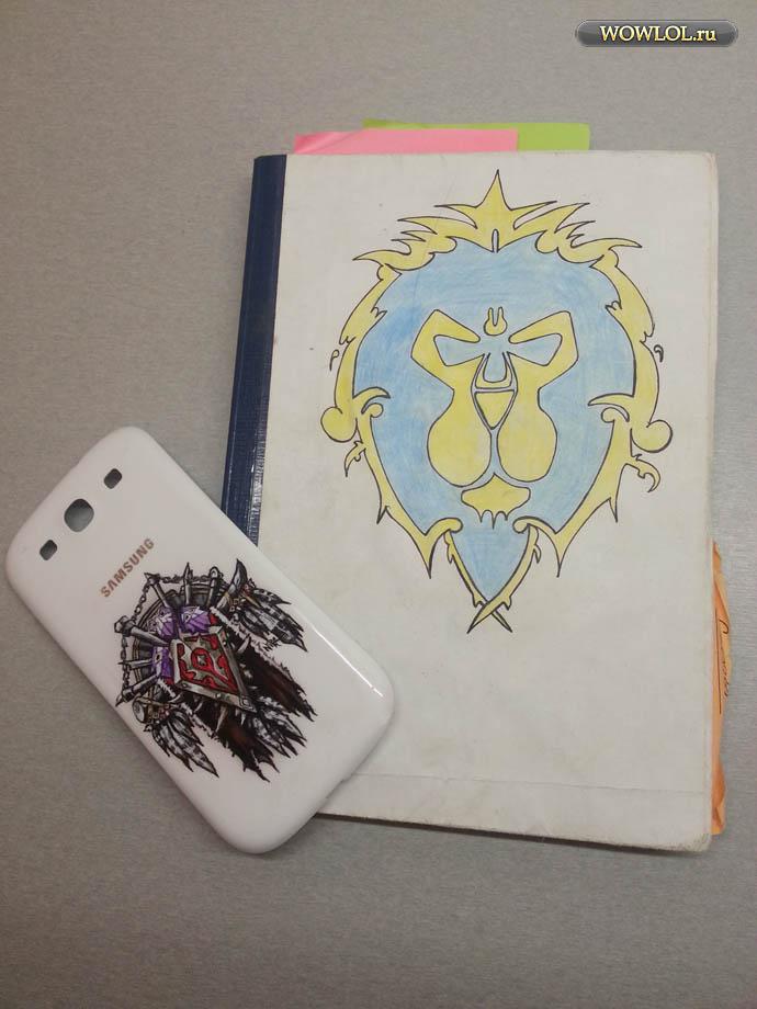 Арт для смартфона и тетради