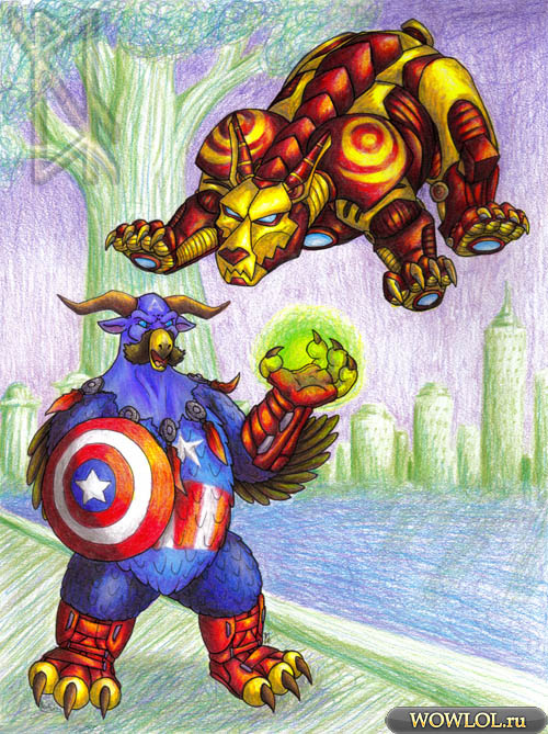 Супергерои в WoW