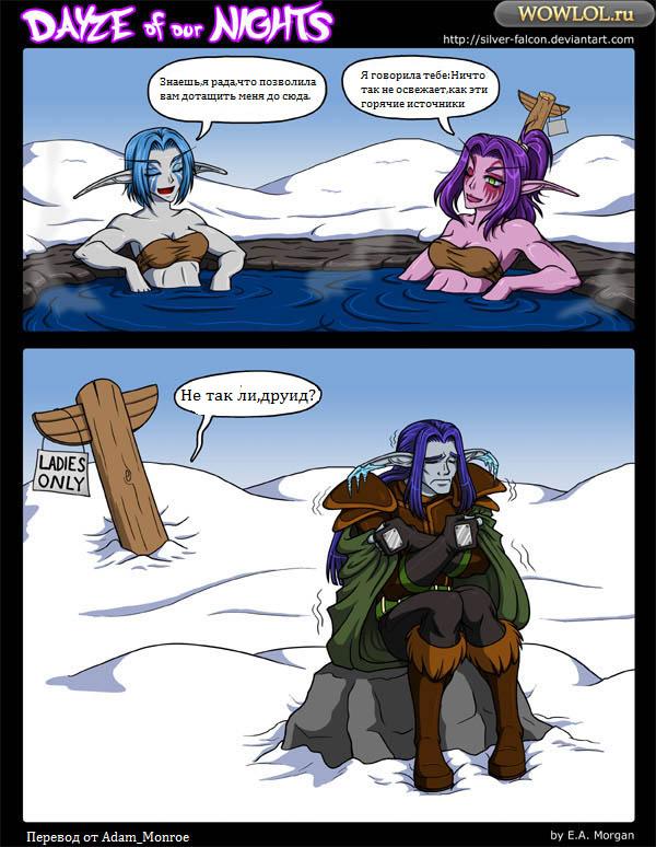 Ночные эльфы в зимних ключах