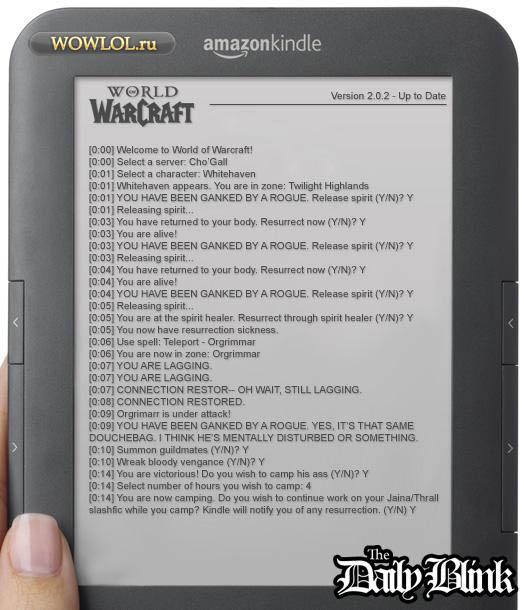 Текстовый вариант WoW на Amazon Kindle