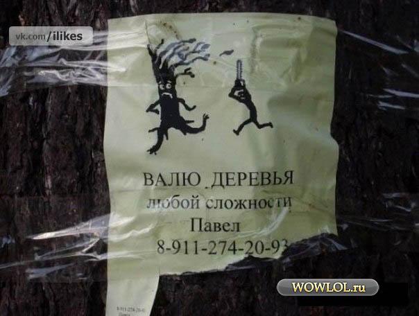 Валит любые деревья