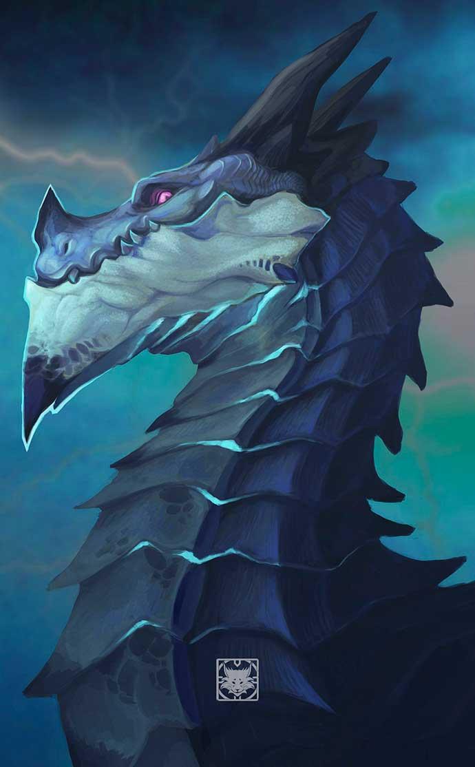 арт с драконом