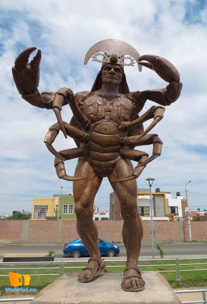 Памятник человеку-крабу