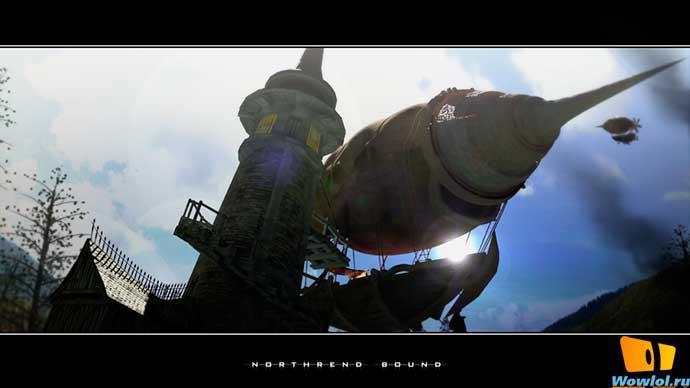 Дирижабль в нортренд_рендер