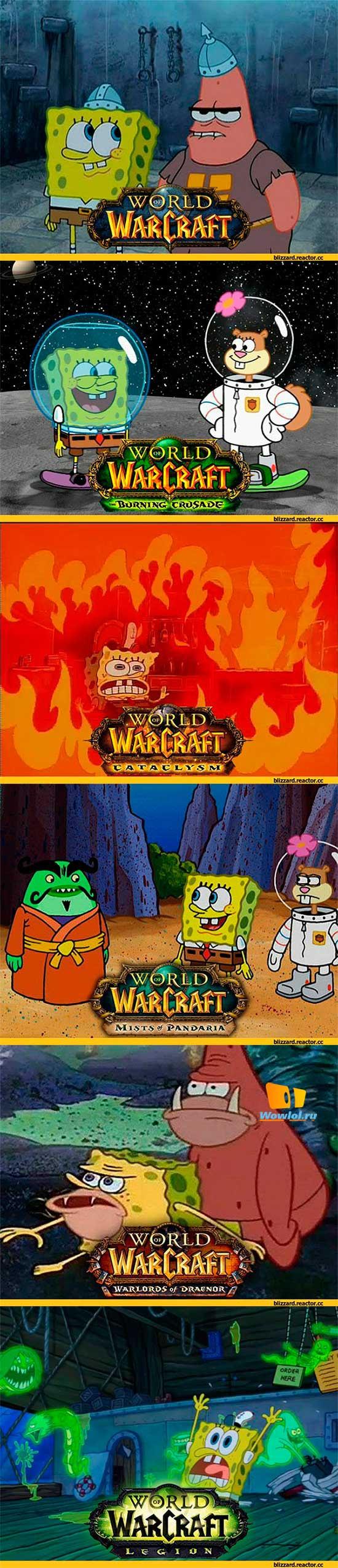 SpongeBob SquarePants в World of Warcraft