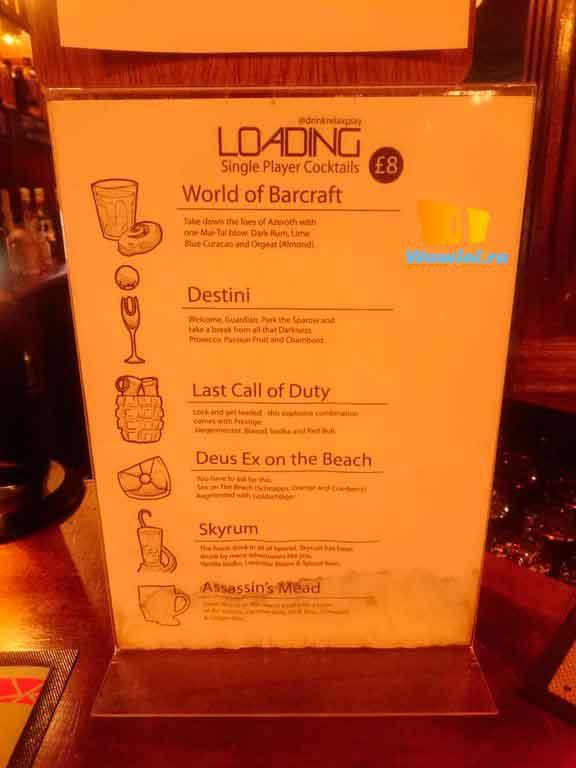 Вывеска бара в лондоне