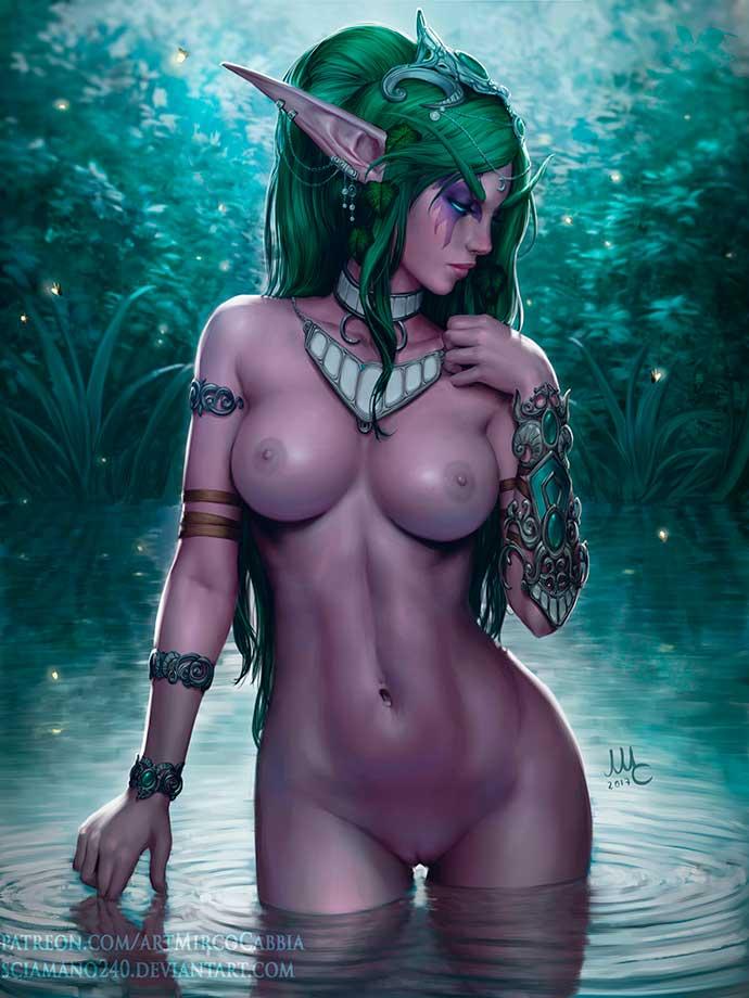 красивая эльфийка