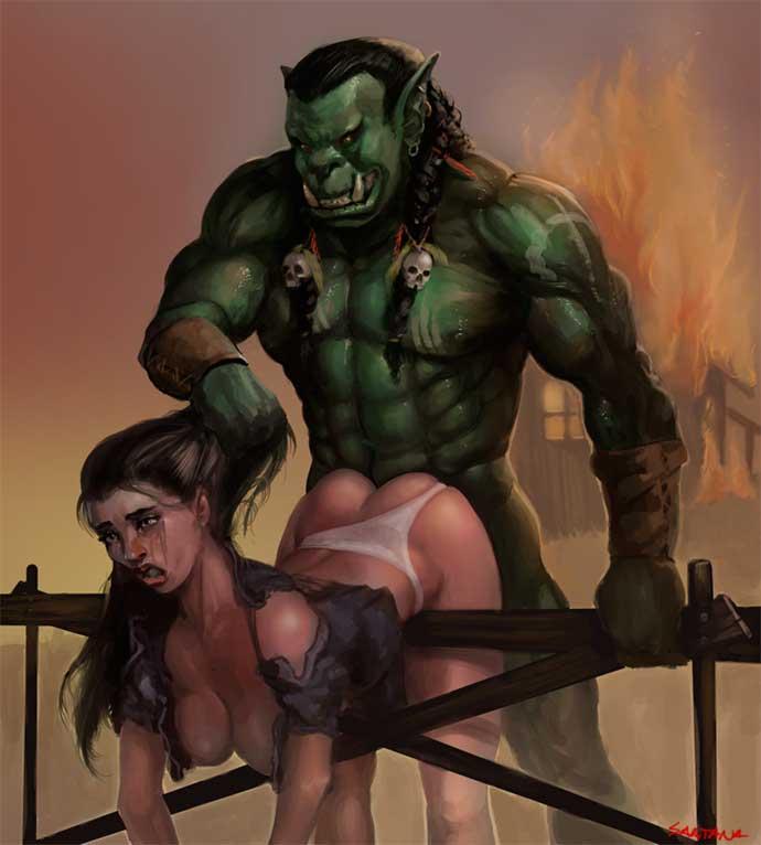 орк и девушка