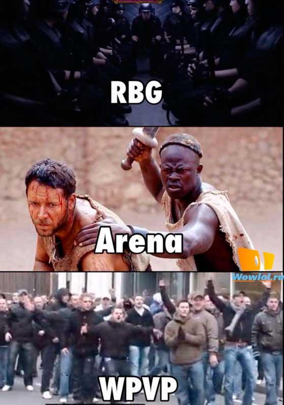 рбг, арена и ...