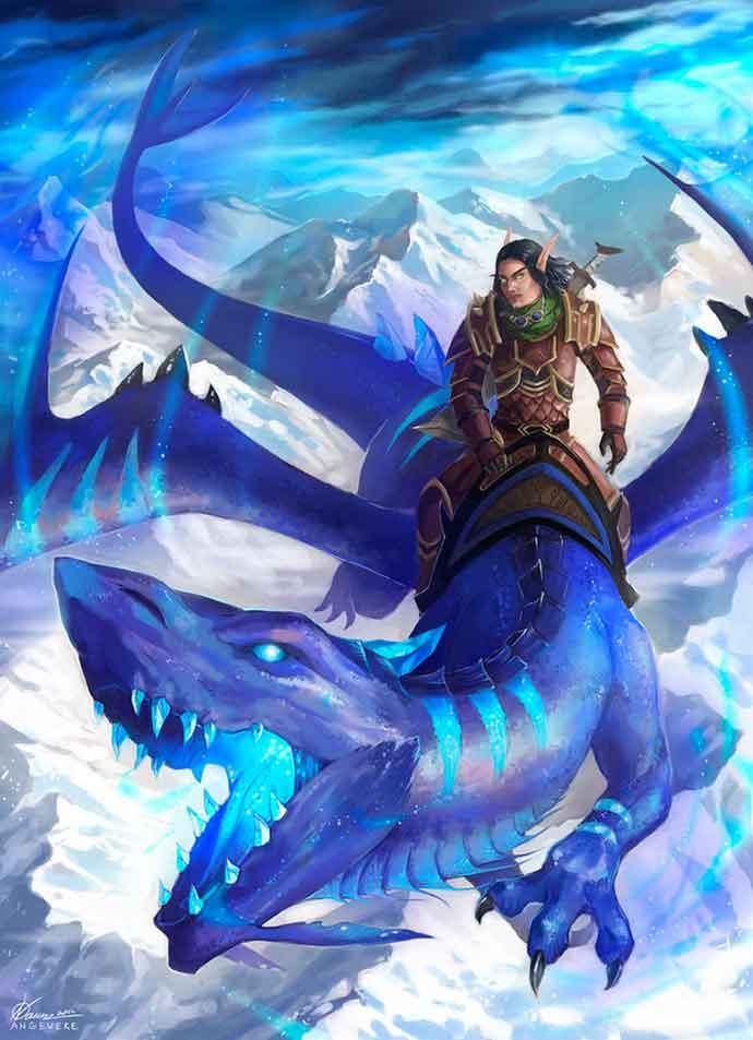 чувак на драконе