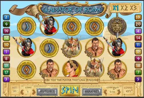 Gladiator of Rome - новый увлекательный игровой автомат для игры в онлайн казино