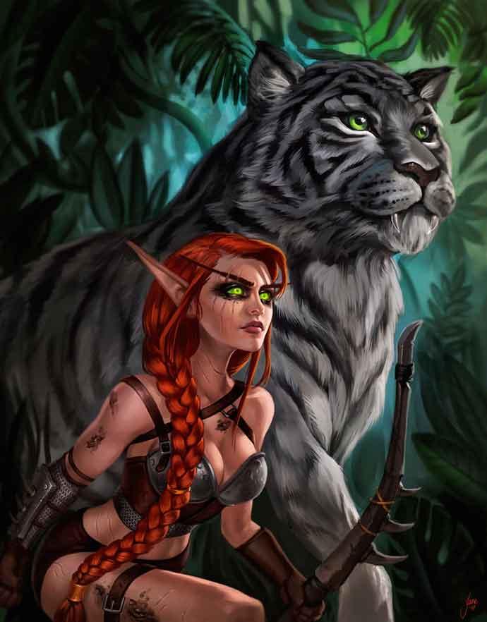 с тигром в тернистой долине