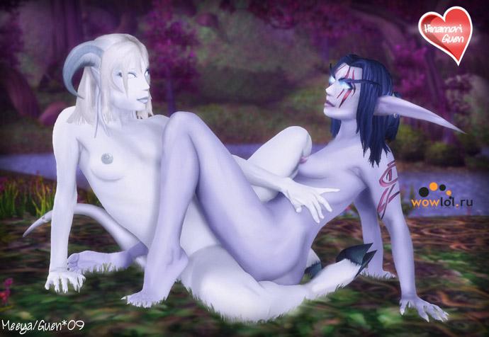 красивые эльфийка и дренейка
