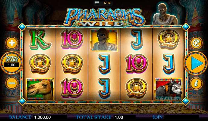 Играть в видеослот Pharaohs Wild бесплатно без регистрации онлайн