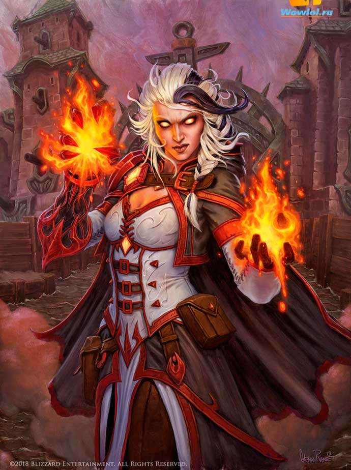 Fire Mage Jaina by Glenn Rane