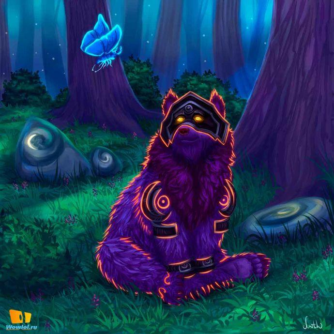 Друид в лесу