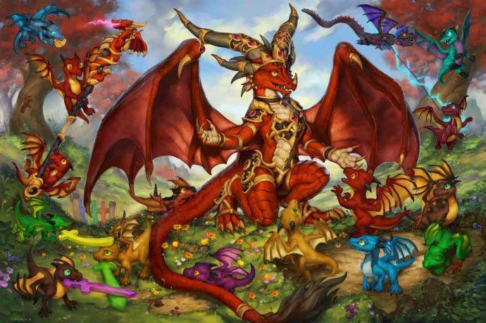 Алекстраза и  дракончики