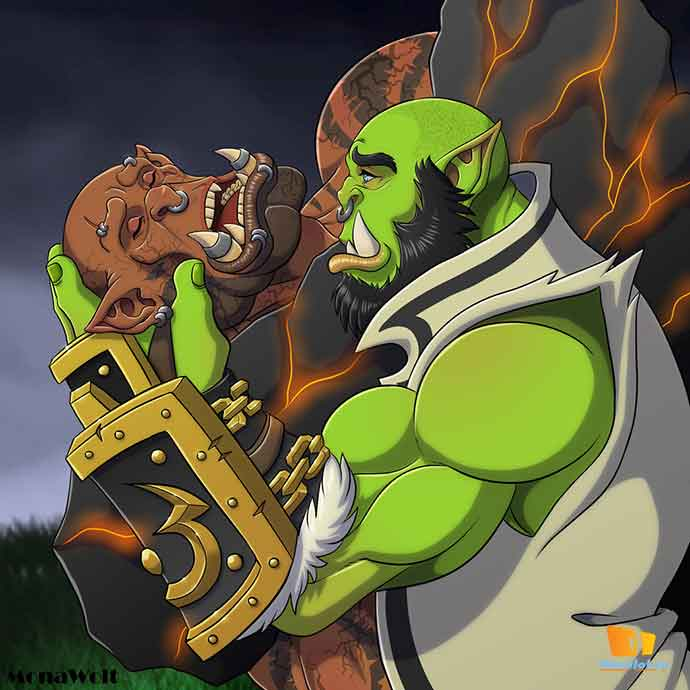 Thrall and Garrosh by Mona Wolt